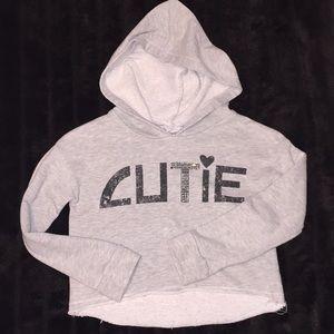 """Xhilaration Sz Yth S/P (6/6x)  """"Cutie"""" hoodie"""